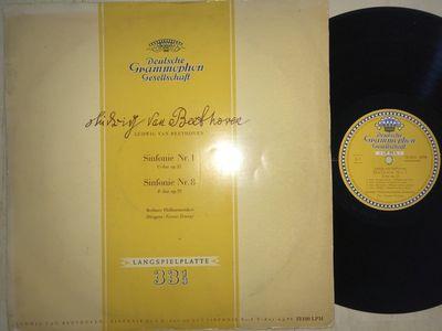 Gripsweat - Beethoven Symphony 1 8 Fricsay DG Tulips ED1 Alle Rechte EX