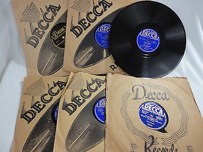 Gripsweat - 1930's Decca 78 RPM Lot Bing Crosby, Harry Horlick