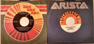 Kinks Father Christmas.Gripsweat David Bowie Kinks 2 45 Rpm Lot Father Christmas
