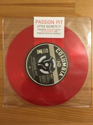 """Gripsweat - Passion Pit - Little Secrets - 7"""" Inch Vinyl"""