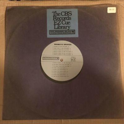 Gripsweat - DRAMATIC BRIDGES~EZ CUE MUSIC LIBRARY LP~ORIG CBS~EZQ
