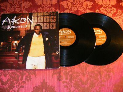 Gripsweat - Akon - Konvicted - 2x EX Vinyl LP - Hip Hop