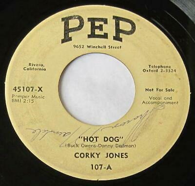 Gripsweat - CORKY JONES - HOT DOG / RHYTHM AND BOOZE - ROCKABILLY