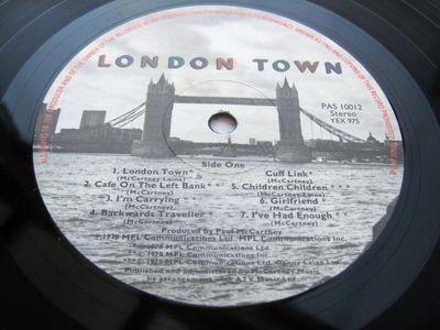 Gripsweat - Paul McCartney & Wings LONDON TOWN UK LP 1st Press -1/-1