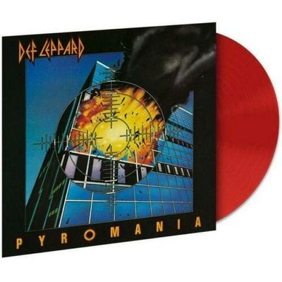 Gripsweat Def Leppard Pyromania 180 Gram Red Colored Vinyl Lp Limited Sealed