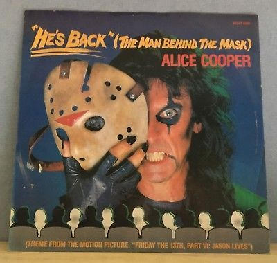 Gripsweat Alice Cooper He S Back The Man Behind The Mask Uk 12 Vinyl Single Excellent
